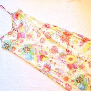 NWOT Anthropologie Deletta Cotton Maxi Dress 12